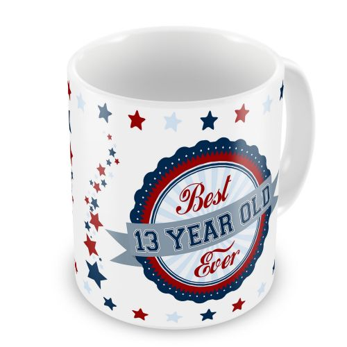 Best 13-100 Year Old Ever Novelty Gift Mug - Blue / Red